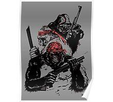 Guerrilla Gorillas Gray Poster