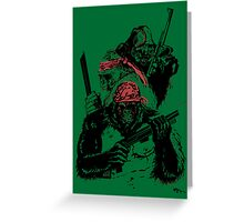 Guerrilla Gorillas Green Greeting Card
