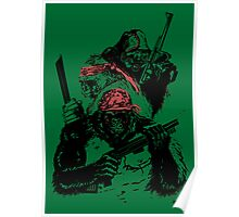 Guerrilla Gorillas Green Poster