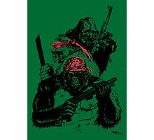 Guerrilla Gorillas Green Photographic Print