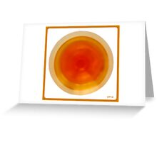 Abstraction of the wine Greeting Card