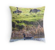 Up & Under (The Canada Goose)  Throw Pillow