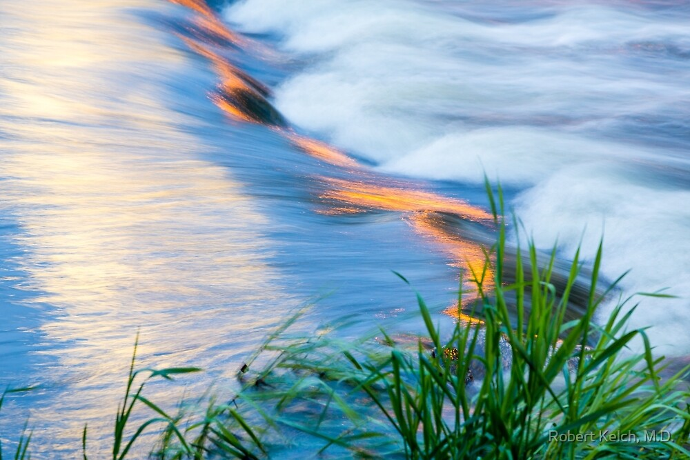 Colorful Reflections Flowing in Mill Creek by Robert Kelch, M.D.