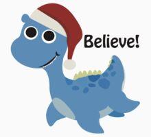 Believe! Santa Nessie Kids Tee