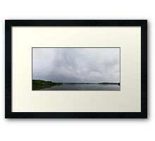 HDR Composite - Lake and Overcast Sky Framed Print