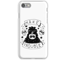 Make trouble - anarchy gorilla iPhone Case/Skin
