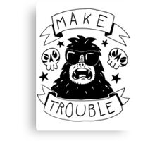 Make trouble - anarchy gorilla Canvas Print