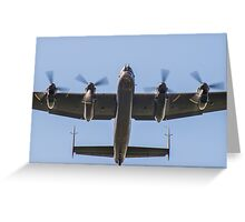 Lancaster Bomber Take Off Greeting Card