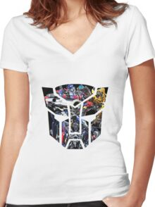 Autobot logo Women's Fitted V-Neck T-Shirt