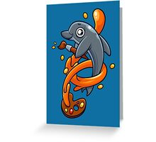 Artistic Dolphin 1 Greeting Card