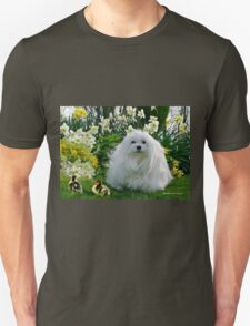 Snowdrop the Maltese at Easter T-Shirt