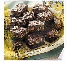 Peanut Butter & Chocolate Squares Poster