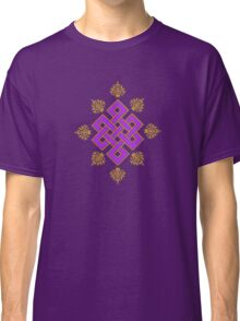 Tibet Mystical Endless Knot with Lotuses Classic T-Shirt