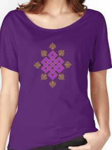 Tibet Mystical Endless Knot with Lotuses Women's Relaxed Fit T-Shirt