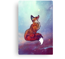 Space Fox Canvas Print