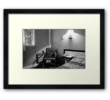 Hotel room in Montpellier (France) Framed Print