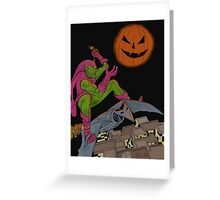 Green Goblin colored Greeting Card