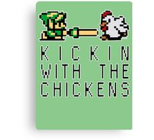 Kickin with the Chickens Canvas Print
