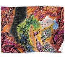 Vishnu and Padmā Dreaming the Dream of the World Poster
