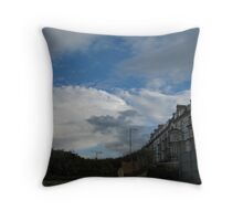 Roller-coaster housing Throw Pillow