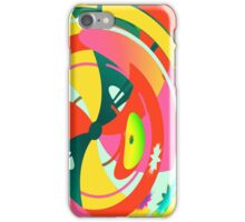 Abstract Neon Geometric Pattern iPhone Case/Skin