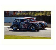 Close Racing Art Print