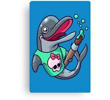 Artistic Dolphin 2 Canvas Print