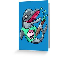 Artistic Dolphin 2 Greeting Card