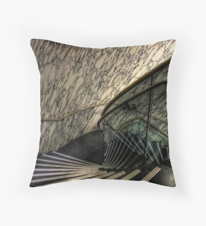 The Marble Staircase Throw Pillow
