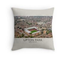 Vintage Football Grounds - Upton Park (West Ham United FC) Throw Pillow
