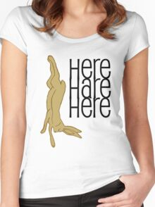 here hare here Women's Fitted Scoop T-Shirt