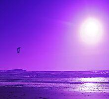 purple kite surfer by jaffa