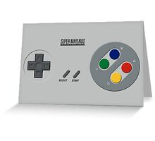 SNES Controller Greeting Card