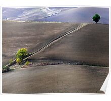 Valley south of Pienza, Tuscany,Italy Poster