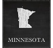 Minnesota Map Chalk Drawing Photographic Print