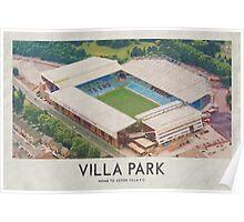 Vintage Football Grounds - Villa Park (Atson Villa FC) Poster