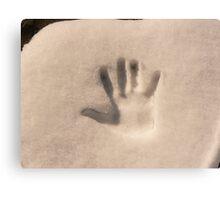 snowy high five Canvas Print