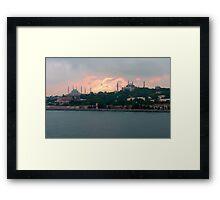 Istanbul Skyline at dusk Framed Print