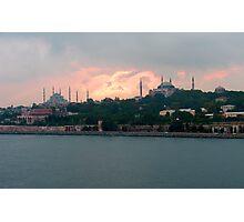Istanbul Skyline at dusk Photographic Print
