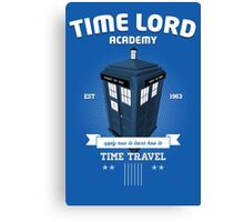 Timelord Academy Canvas Print