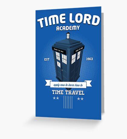 Timelord Academy Greeting Card