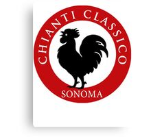 Black Rooster Sonoma Chianti Classico  Canvas Print