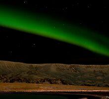 Aurora Borealis near Reykjavík by Stefán Kristinsson