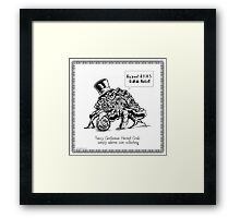 Fancy Gentleman Hermit Crab Framed Print