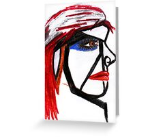 Painted girl Greeting Card