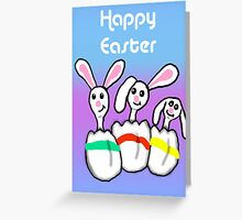 Easter Egg Bunnies Greeting Card