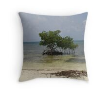 Lone Mangrove Tree Throw Pillow