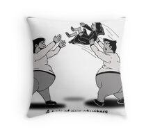 a pair or nun chuckers Throw Pillow