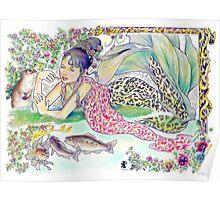 tropical fantasia - mermaid princess Poster