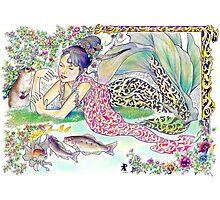 tropical fantasia - mermaid princess Photographic Print